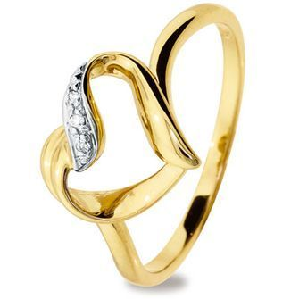 9 ct. Yellow gold Heart love ring - BEE-24987