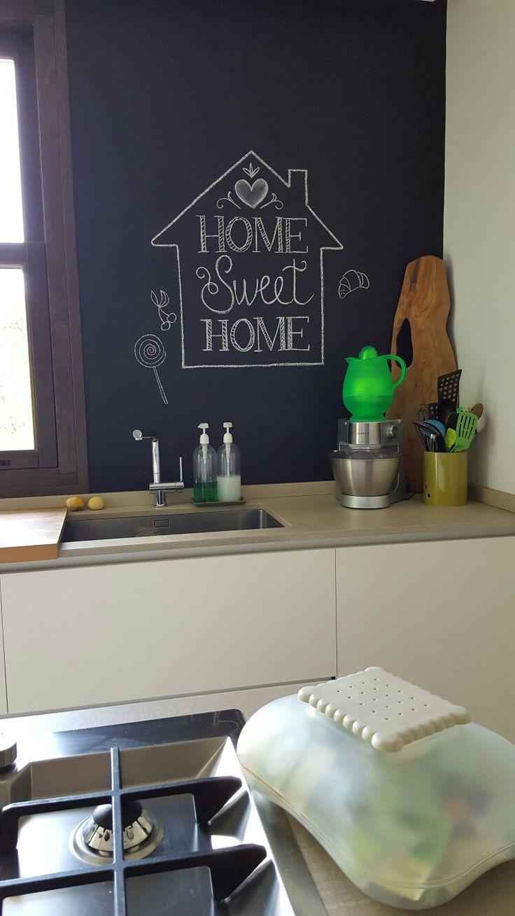 Pi di 25 fantastiche idee su parete di lavagna su - Parete lavagna cucina ...