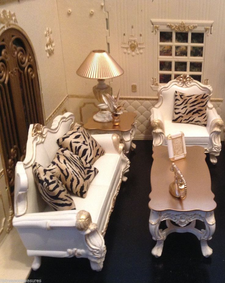 Barbie OOAK Monster High Fashion Royalty House French Living Room Furniture Set