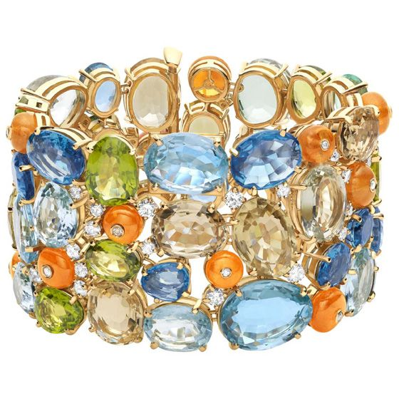 bulgari oneofakind bracelet from high jewelry collection in yellow