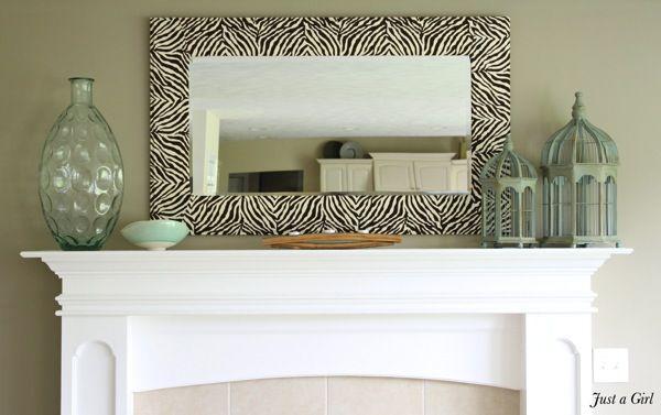 Zebra mirror diy