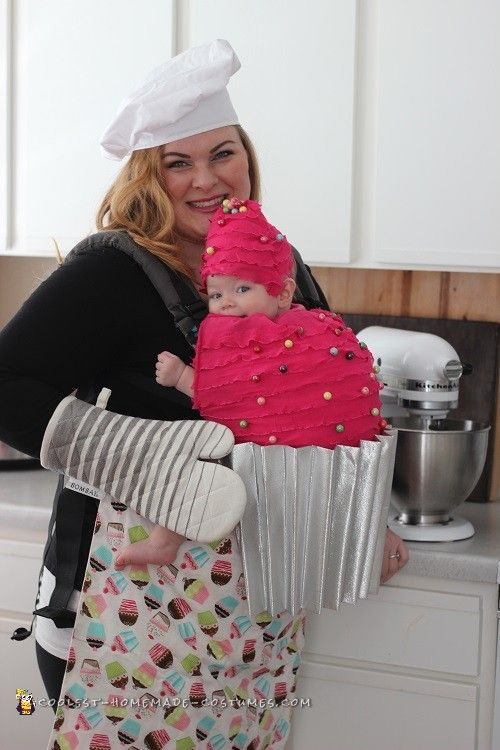 Mommy and Me Babywearing Costume: The Baker and her Cupcake