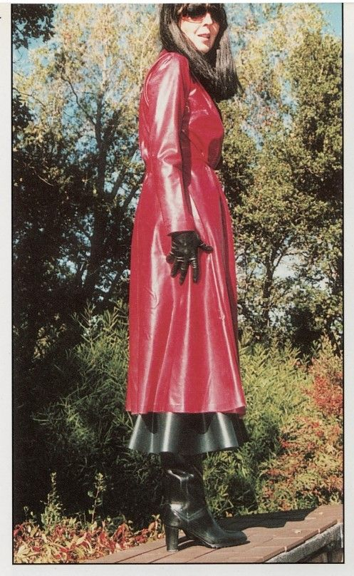 red rubber raincoat rubber rainwear pinterest rubber