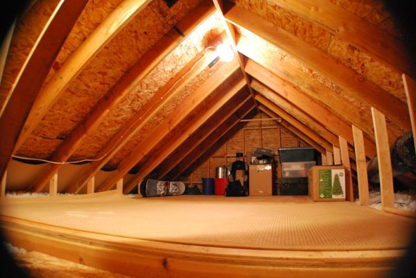 6 steps to organizing the attic (I'll need to create one first - saws and plywood anyone?)