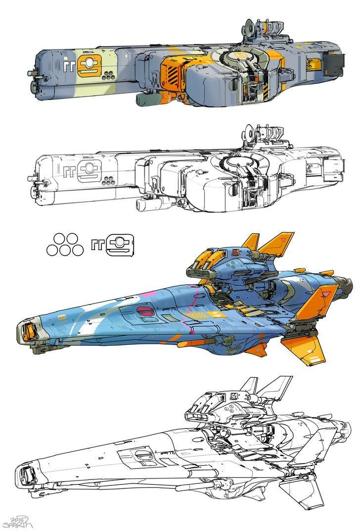 ArtStation - two blue space vehicles, sparth .