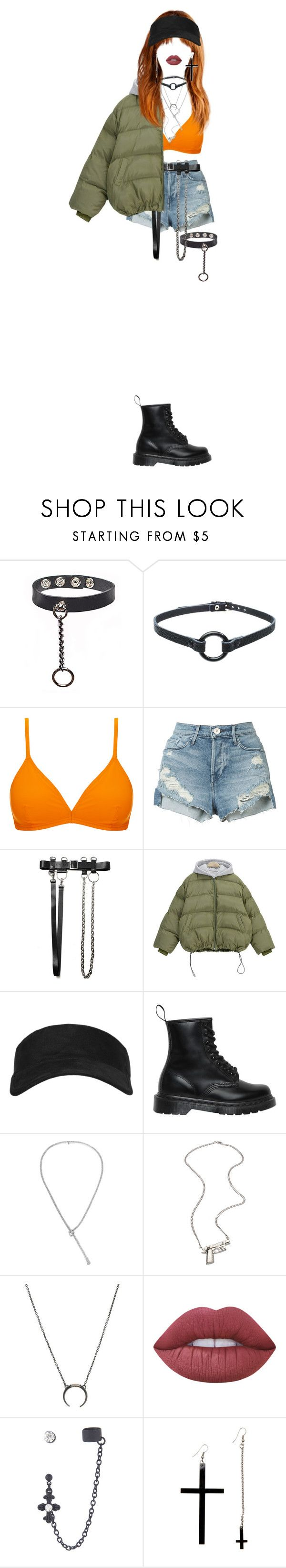 """""""Mikki _ Old School"""" by xxeucliffexx ❤ liked on Polyvore featuring Orlebar Brown, 3x1, Chicnova Fashion, Topshop, Dr. Martens, Gucci, Erica Anenberg, Lime Crime, Hot Topic and libra"""