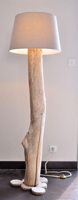 Les lampes en bois flotté - le grand lampadaire - La Vie du Bois - Bordeaux