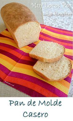 Pan de Molde Casero: Textura y sabor similares al pan de molde industrial pero mucho más sano