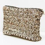 We love this sparkling gold sequin clutch
