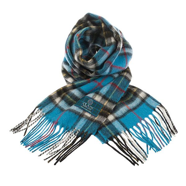 Thompson Blue Tartan Scarf made from 100% lambswool. $39.95