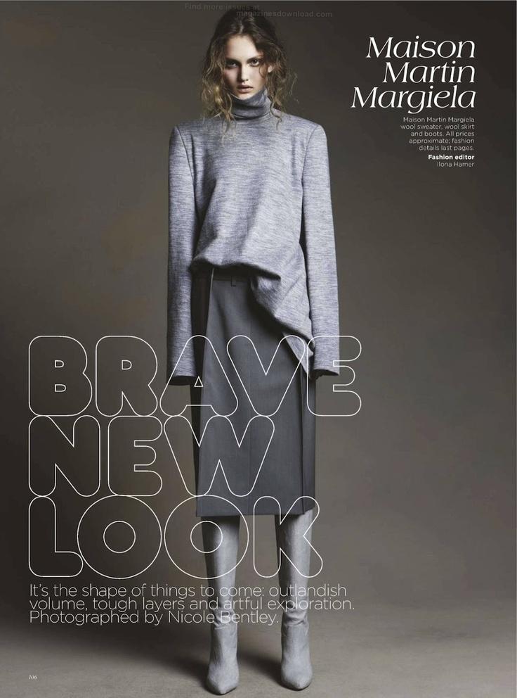 Brave New Look   Nicole Bentley #photography   Vogue Australia August 2012 #design