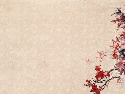 plum blossoms flower templates nature powerpoint