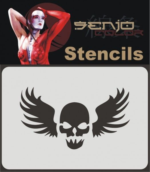 #Airbrush #Schablone A6 - Skull Tattoo 01. #skull #totenschädel #senjocolor #airbrushtattoo #tattoo #schablone