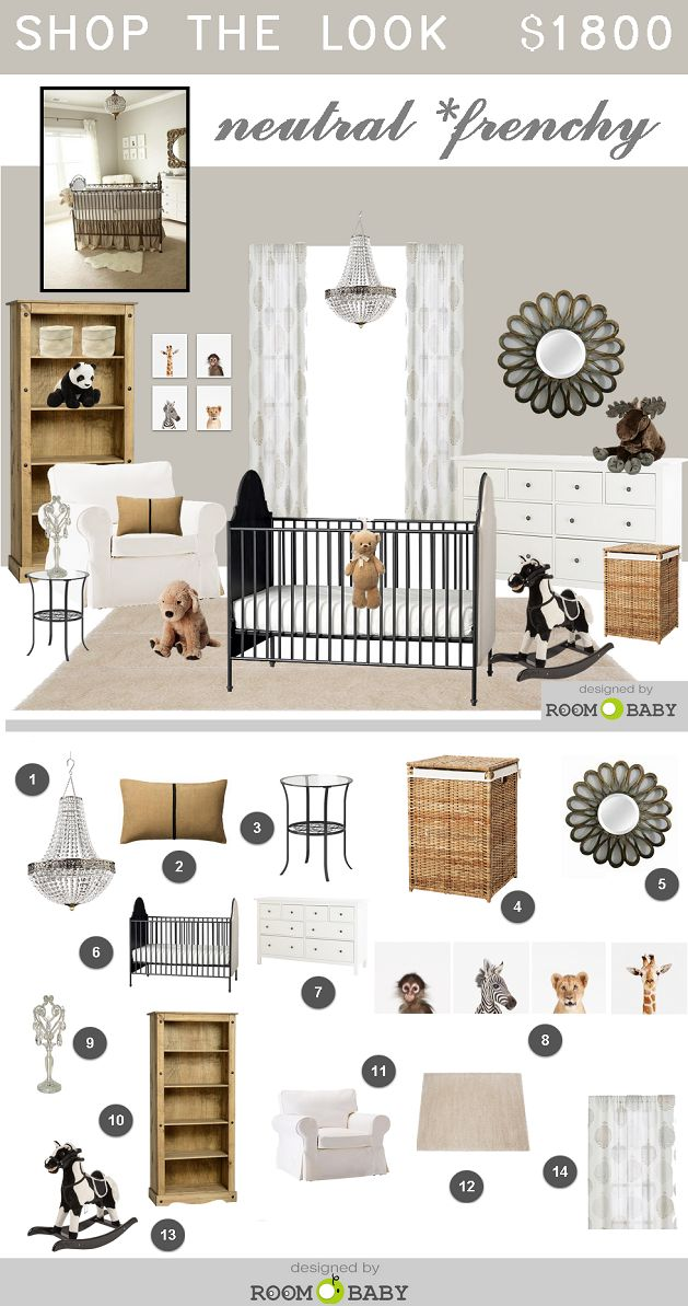 roomobaby blog: neutral Frenchy style nursery