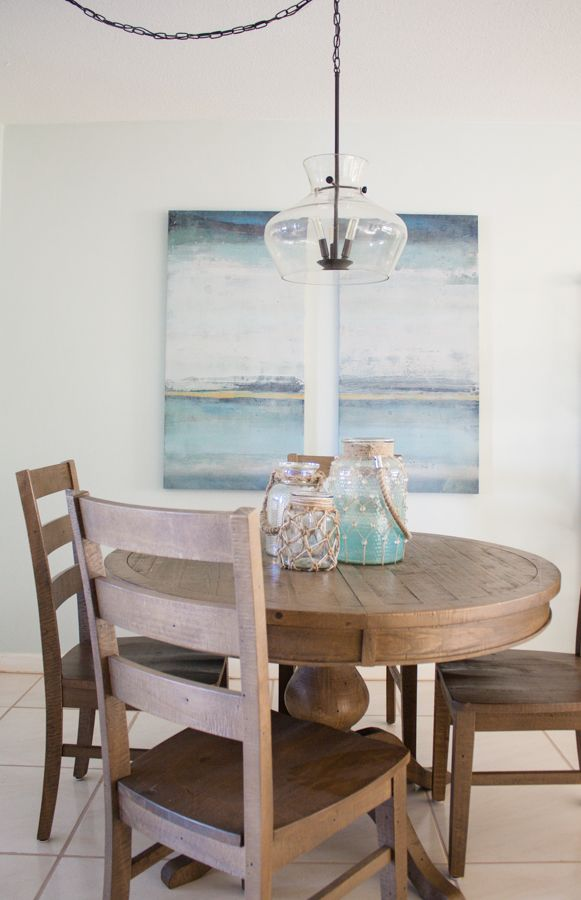 Coastal Dining Room Decor Table and chairs Cottages and  : a735dc5a5a56ec295941bfa10e508ae4 from www.pinterest.com size 581 x 900 jpeg 58kB