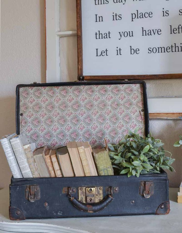 How to Style a Vintage Suitcase 5 Different Ways -…