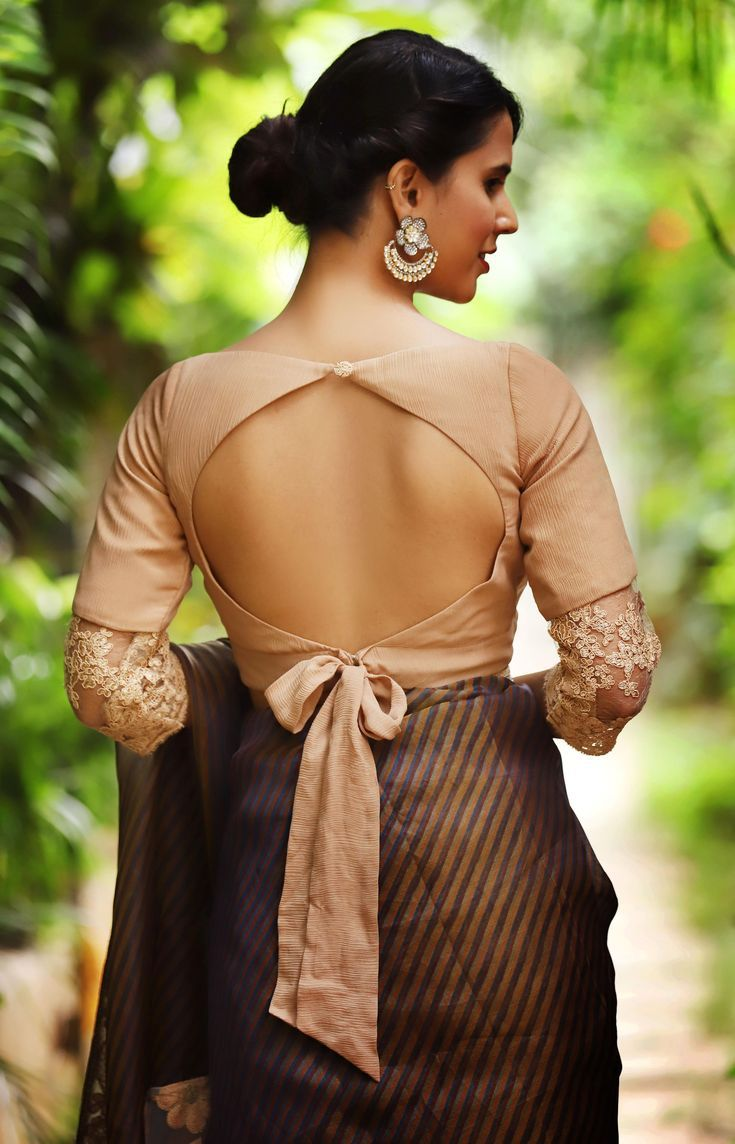 Backless Blouse In 2020 Trendy Blouse Designs