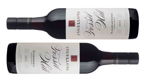 Orange's Angullong Wines has released two wines in their 'Fossil Hill' range; the 2015 Angullong 'Fossil Hill' Barbera ($26) and the new 2015 Angullong 'Fossil Hill' Sagrantino ($26).