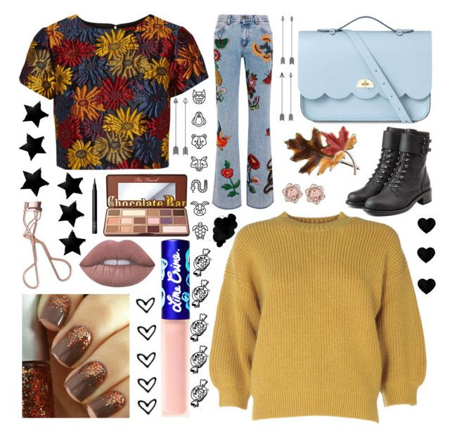 """Autumn Style"" by acciona-lumoson ❤ liked on Polyvore featuring Alice + Olivia, 3.1 Phillip Lim, Too Faced Cosmetics, Charlotte Tilbury, NARS Cosmetics, Lime Crime, Philosophy di Lorenzo Serafini, Gucci, The Cambridge Satchel Company and Anne Klein"