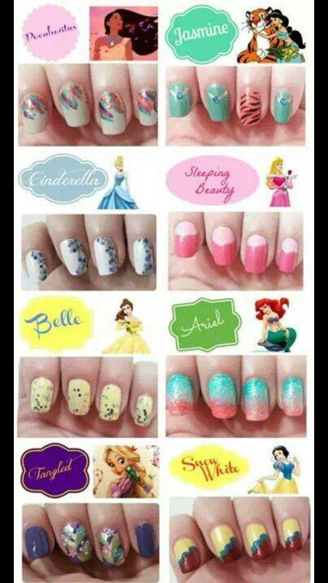 Princess inspired nail art