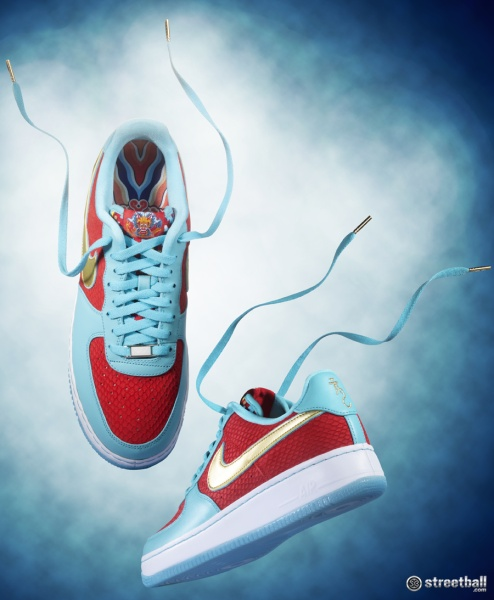 Nike Air Force One special edition Year of the Dragon sneakers.