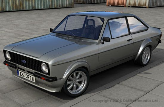 Silver MK2 Escort RS - Forest Arches
