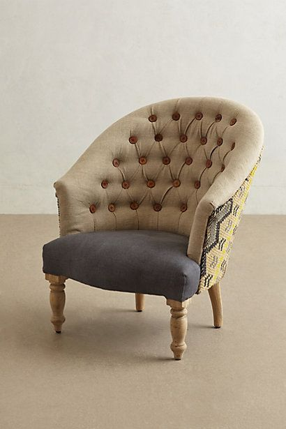 Kalver Armchair - anthropologie.com - $1298 So expensive, but I love the style.