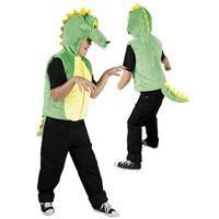 Hayvan Kostümleri: Kostümlü Partiler, Kıyafet Baloları, Cadılar Bayramı, Halloween Partileri için ideal Canavar Kostümü Timsah Başlı Yelek Kostüm, 5-7 Yaş Timsah başı şapkalı ve kuyruklu, önden fermuarlı, velür kumaş kostüm. Özel günlerinizi Parti Paketi'nin geniş bebek, cocuk ve yetişkin kostüm  çeşitlerinden seçeceğiniz kostümlerle daha da özel kılabilirsiniz.
