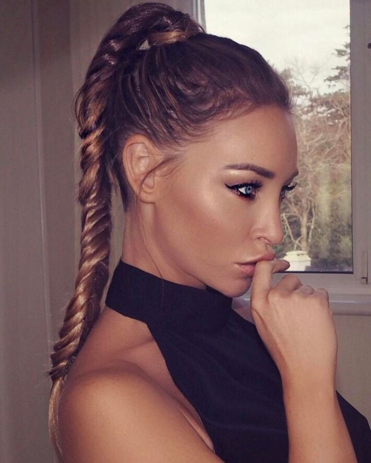 """6,509 Likes, 71 Comments - LAUREN POPE (@laurenpopey) on Instagram: """"B R A I D E D ▫️P O N Y  A @hairrehablondon Synthetic Wrap Ponytail hairpiece styled into a…"""""""