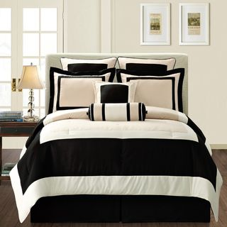 Gentil This Gramercy Queen Size Bed In A Bag With Sheet Set Includes 12 Quality  Pieces To Adorn Your Bed From Head To Toe. A Bold Black And Beige Geometric  Pattern ...