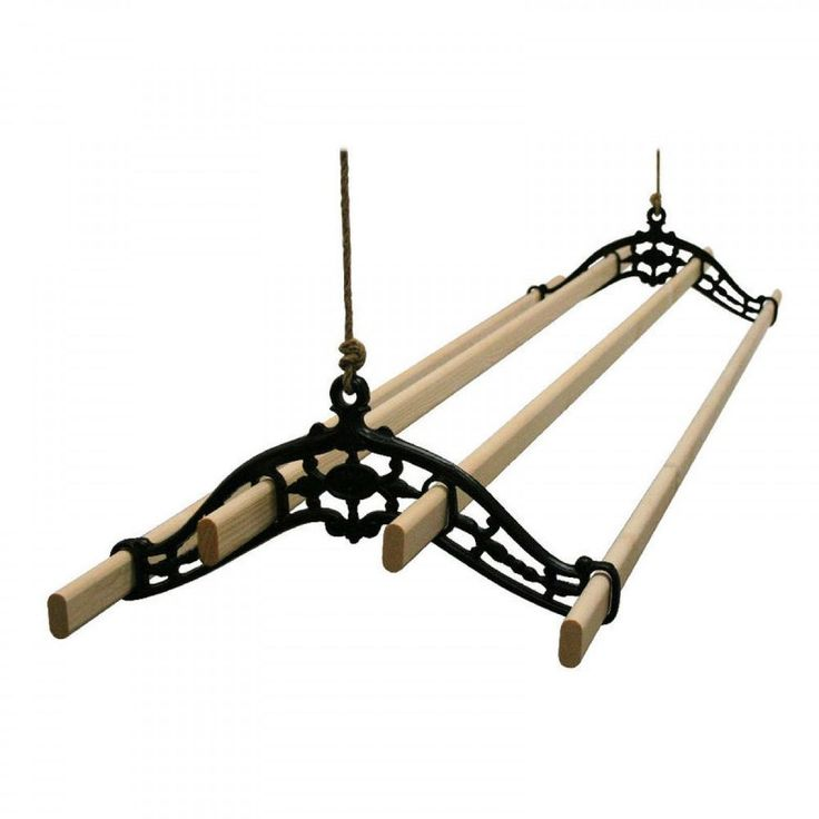 ceiling suspended clothes drying rack | Traditional old Vintage Victorian Clothes airer dryer kitchen rack ...