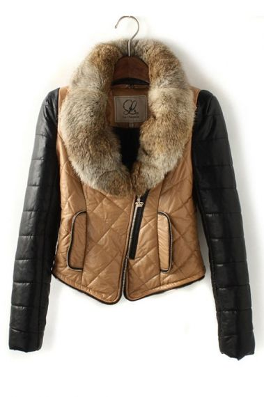 LOVE these colors! Color Blocked Leather Jacket #leather #jacket #fashion