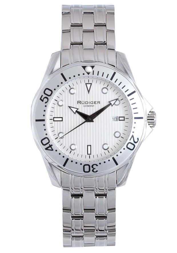 Price:$186.56 #watches Rudiger R2000-04-001.1, Rudiger Chemnitz Men's Round Silver Watch