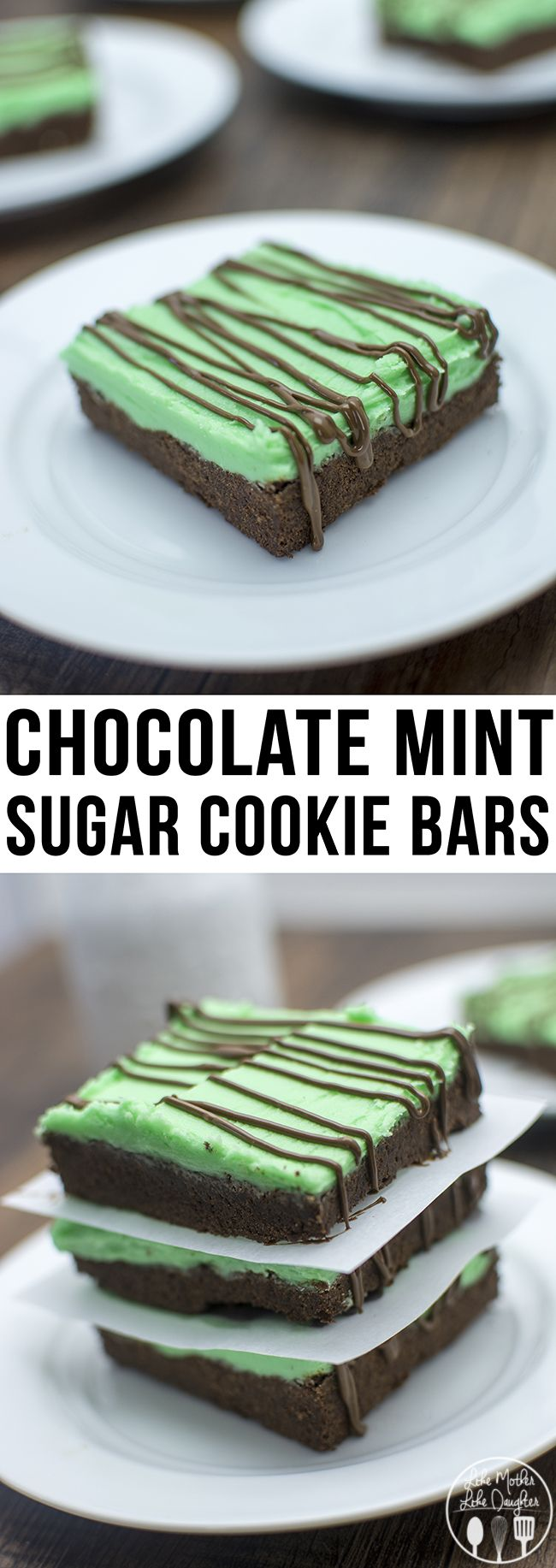 These delicious sugar bars have the perfect combo of chocolate and mint flavors.
