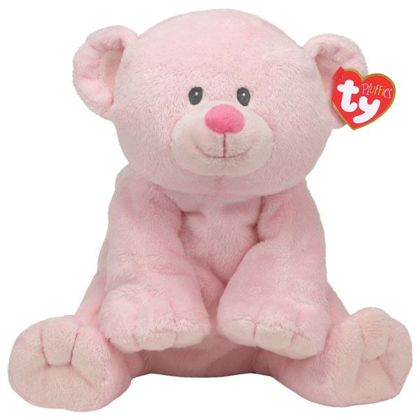 Ty Beanie Pluffies Sweet Baby Pink Bear At Toystop