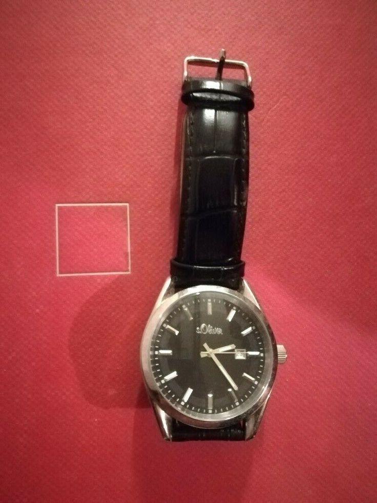 Ebay Men S Watches Men S Watches S Oliver Black Leather Bracelet Eur 7 00 Ange Men S Style 2019 Black Leather Bracelet Watches For Men Leather Bracelet
