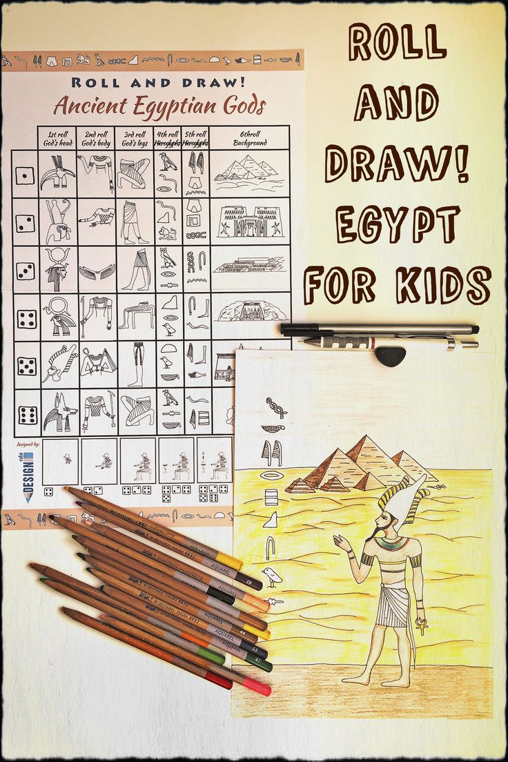 Roll and Draw! Historic Egypt for youths