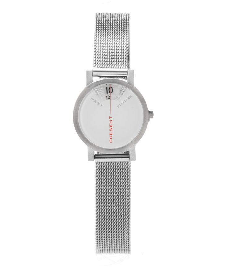 SO COOL...  And only $115 [???] PAST, PRESENT, FUTURE WATCH | Daniel Will-Harris Past Present Future Watches, Only Shows Present Time, Live In The Moment, Seize The Moment, Interesting, Design, Creative, Original, Stainless Steel | UncommonGoods
