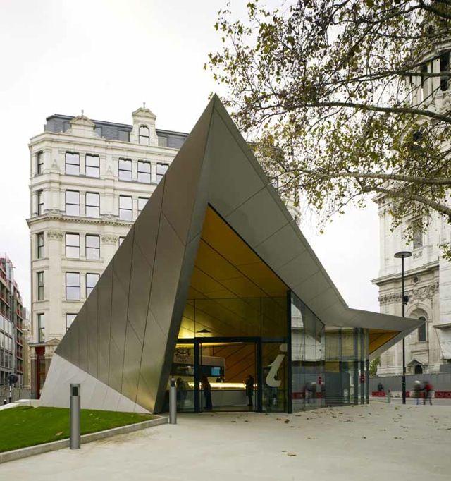 Modern info centre like in London (UK)