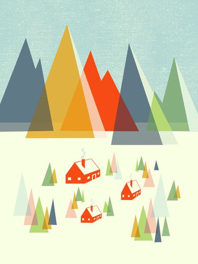 The Foothills Art Print. By Jenny Tiffany.