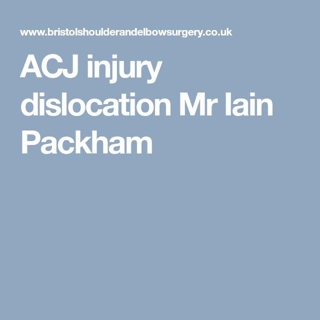 ACJ injury dislocation Mr Iain Packham