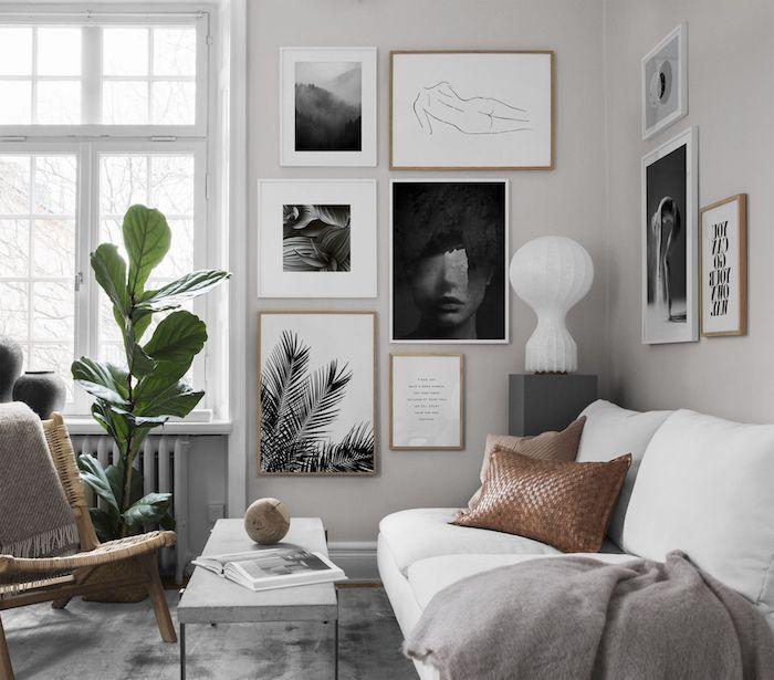 1001 Idees De Couleur De Peinture Pour Salon Lumineux Et Accueillant En 2020 Couleurs De Peinture Pour Salon Mur Du Salon Deco Interieure