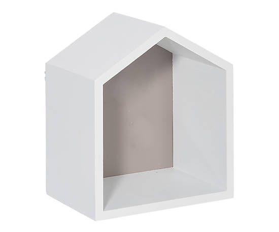 Maison décorative bois et métal, greige - L17