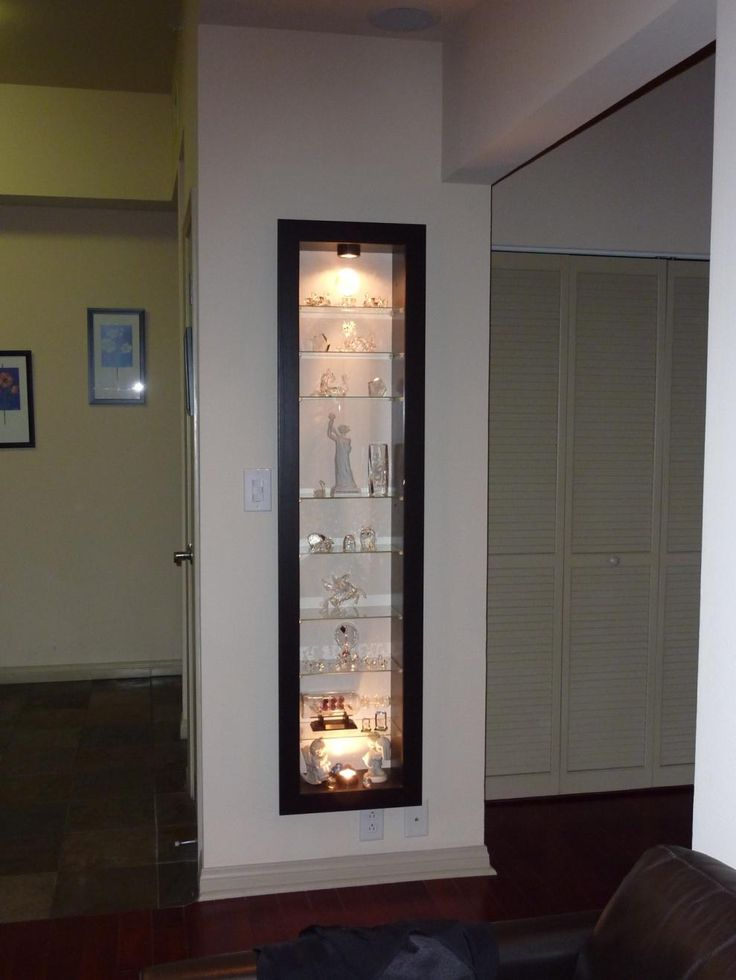 A Recessed Bertby Display Cabinet