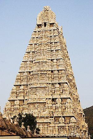 Shiva temple in Thiruvannamalai, Tamil Nadu. The town is by Arunachala Hill, a place of pilgrimage.