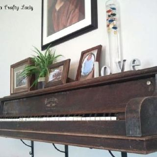 Old piano. I found my mantel piece!!!!! More