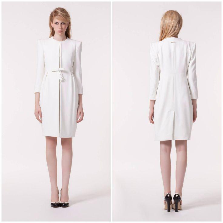 Jacket + Dress | Twin-Set Simona Barbieri | Also available in Purple | #fashion #jacket #dress #ivory #purple #twinsetsimonabarbieri #Aspirations