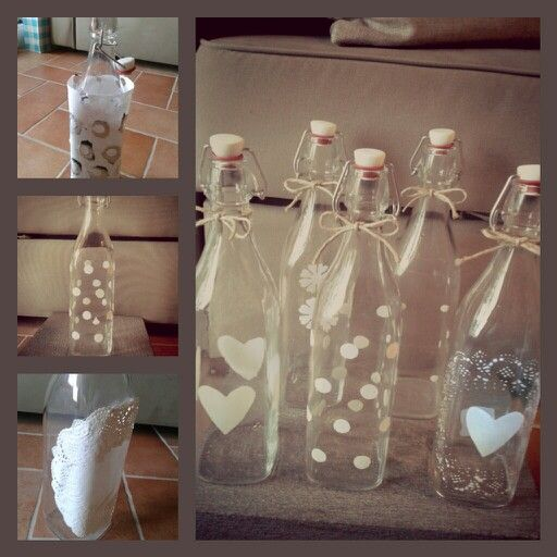 Diy bottles. Easy Way to make original Nordic Style Glass bottles For water. By Alena Slamjakova
