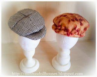 Minna's Doll World - Minnan nukkemaailma: More hats! - Lisää hattuja!  Http://minnasdollhouses.blogspot.com