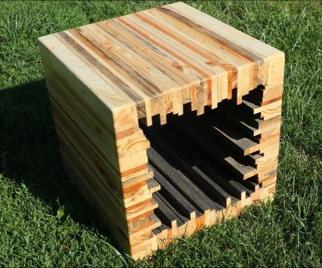 Make a Modern Pallet Stool / Coffee Table: 8 Steps (with Pictures)